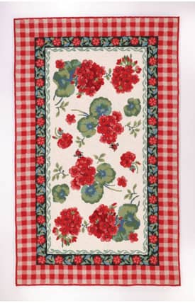 Peking Handicraft, Inc. Suzanne Nicoll Geraniums Rug