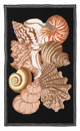 Peking Handicraft, Inc. Country Seashells Rug