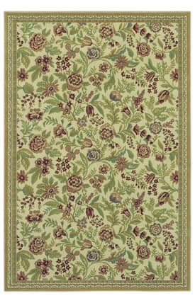 Shaw Woven Expressions Gold English Floral Rug