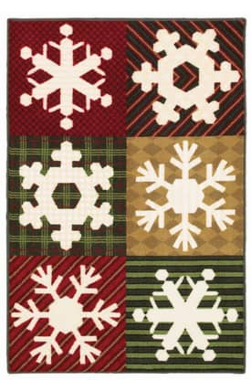 Shaw Holiday Snowfall Rug
