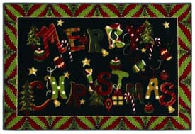 Shaw Holiday Merry Jumble Rug