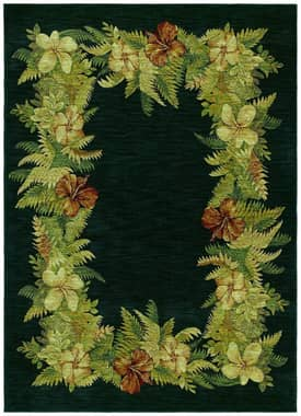 Shaw Tommy Bahama Home Nylon Border Boquet Rug