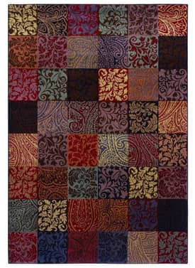 Shaw Inspired Design Paisley Block Rug