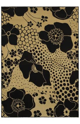 Shaw Open Line Ebony Wildflower Rug