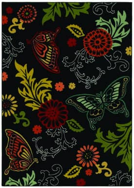 Shaw Kathy Ireland Home Young Attitudes Butterfly Fantasy Rug