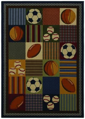 Shaw Kathy Ireland Home Young Attitudes Play Ball Rug