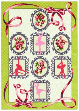 Shaw Kathy Ireland Home Young Attitudes Tiny Dancer Rug