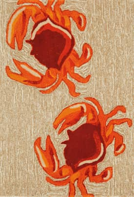 Trans Ocean Frontporch Outdoor Crabs Rug