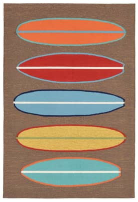 Trans Ocean Frontporch Outdoor Surf Boards Rug