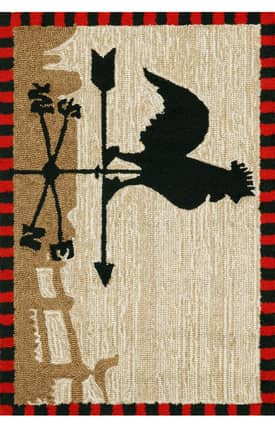 Trans Ocean Frontporch Outdoor Rooster Rug