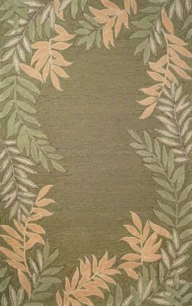 Trans Ocean Spello Outdoor Fern Border Rug