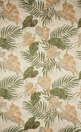 Trans Ocean Ravella Outdoor Tropical Leaf Rug