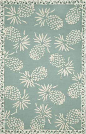 Trans Ocean Cargo Outdoor Pineapple Rug