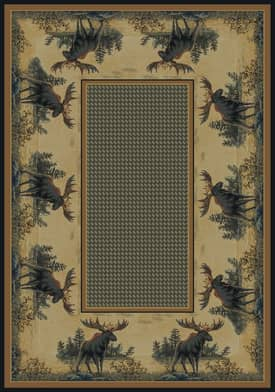 United Weavers Hautman Brothers Northwood Moose Rug
