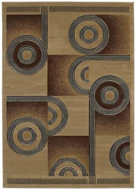 United Weavers Contours Spiral Canvas Rug