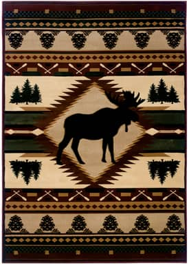 United Weavers Contours Moose Wilderness Rug