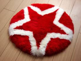 Bowron Kids Fun Rug Star Sheepskin Rug
