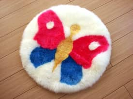 Bowron Kids Fun Rug Butterfly Sheepskin Rug