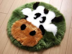 Bowron Kids Fun Rug Cow Sheepskin Rug