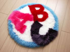 Bowron Kids Fun Rug ABC Sheepskin Rug