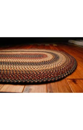 Homespice Decor Wool Braided Rugs Cambridge Rug