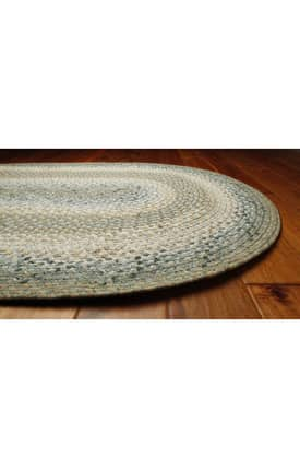 Homespice Decor Cotton Braided Celadon Rug