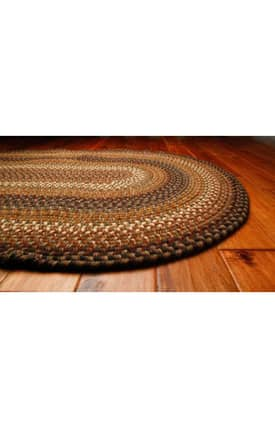 Homespice Decor Wool Braided Rugs Chestnut Rug