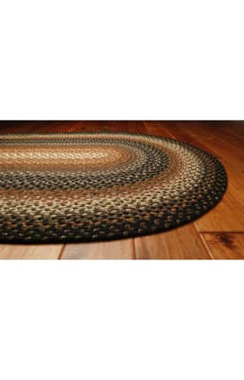 Homespice Decor Cotton Braided Cocoa Bean Rug