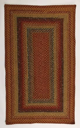 Homespice Decor Cotton Braided Four in Nine Patch Rug