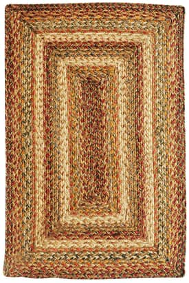 Homespice Decor Green World Braided HT Rug
