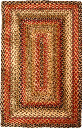Homespice Decor Green World Braided KT Rug