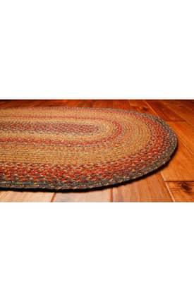Homespice Decor Green World Braided MH Rug