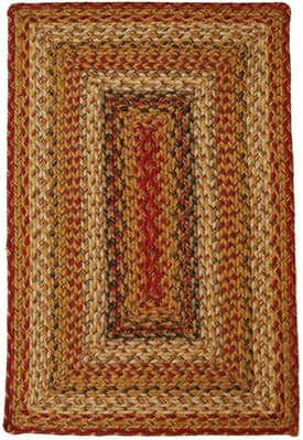 Homespice Decor Green World Braided MS Rug