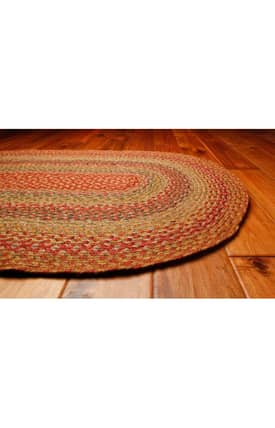 Homespice Decor Green World Braided SP Rug