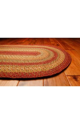 Homespice Decor Green World Braided SN Rug
