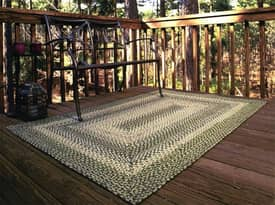 Homespice Decor Out-Durable Braided Outdoor Irish Mist Rug