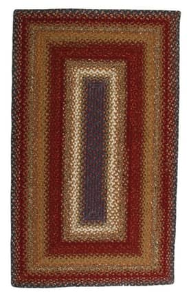 Homespice Decor Cotton Braided Log Cabin Step Rug