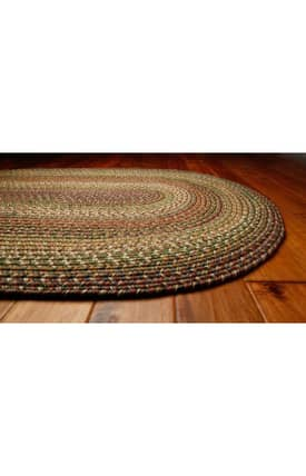 Homespice Decor Out-Durable Braided Outdoor Rainforest Rug