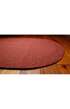 Homespice Decor Out-Durable Braided Outdoor Solid Rug