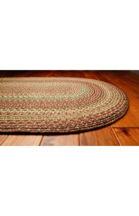 Homespice Decor Out-Durable Braided Outdoor Tea Rose Rug