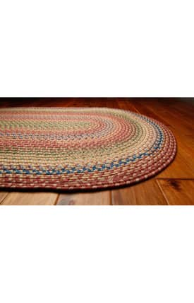 Homespice Decor Ultra Durable Braided Venetian Glass Rug
