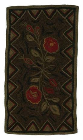 Homespice Decor Hooked Rugs Wild Rose Rug