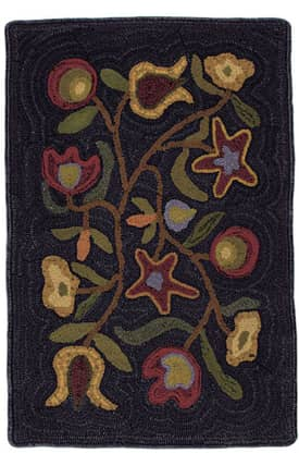 Homespice Decor Hooked Rugs Walk in the Flowers Rug