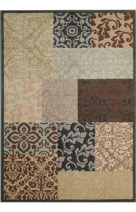 Capel Quiescent Damask Square Rug