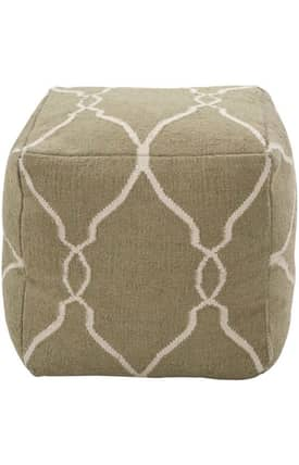 Surya Marrakesh Trellis Pouf Furniture