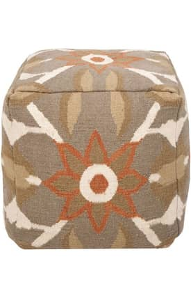 Surya Marrakesh Floral Pouf Furniture