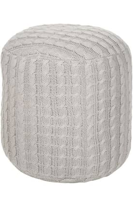 Surya Marrakesh Knitted Pouf Furniture