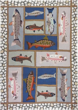 Homefires Rugs Cynthia MacCollum Mountain Trout Rug