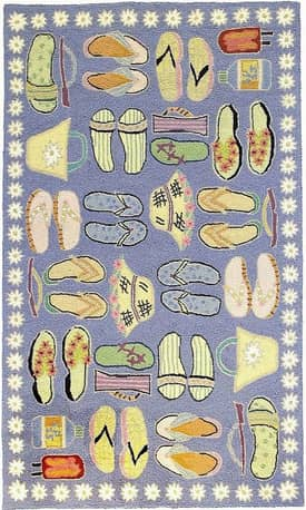 Homefires Rugs Coastal Living Beach Sandals Rug