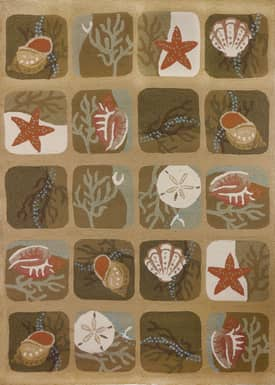 Homefires Rugs Homefires Robin Pickens Shell Tile Rug